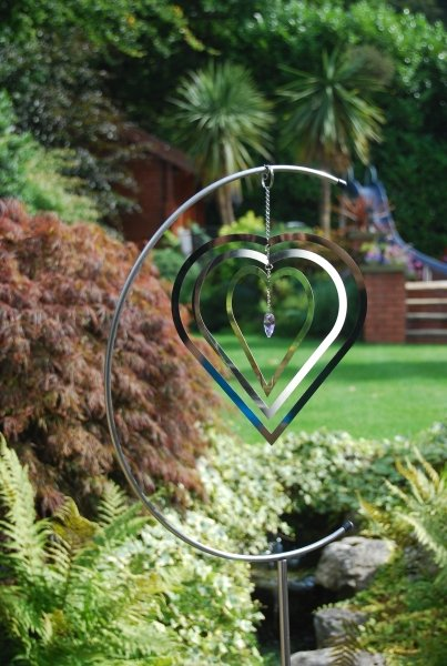 Heart Crystal Hanging Wind Spinner 163 24 99