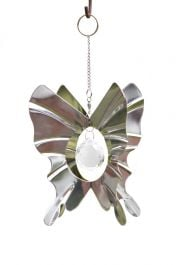 Crystal Orb Butterfly Hanging Garden Ornament