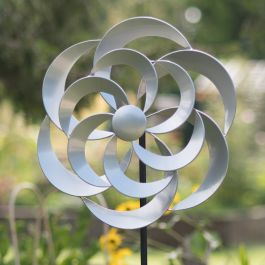 Cotswold Wind Spinner in Silver Dia 50cm
