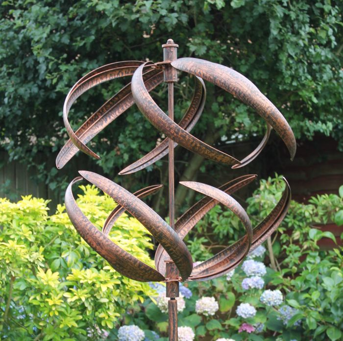 Sphere Wind Spinner in Brushed Copper Dia 56cm
