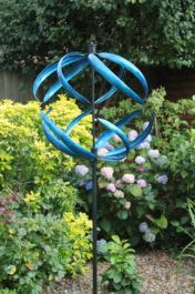 Sphere Wind Spinner in Blue Dia 56cm