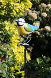 Bluetit Garden Ornament with Stake - 98cm