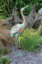 Patina Crane Garden Ornament - 64cm