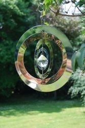 Stainless Crystal Saturn Wind Spinner