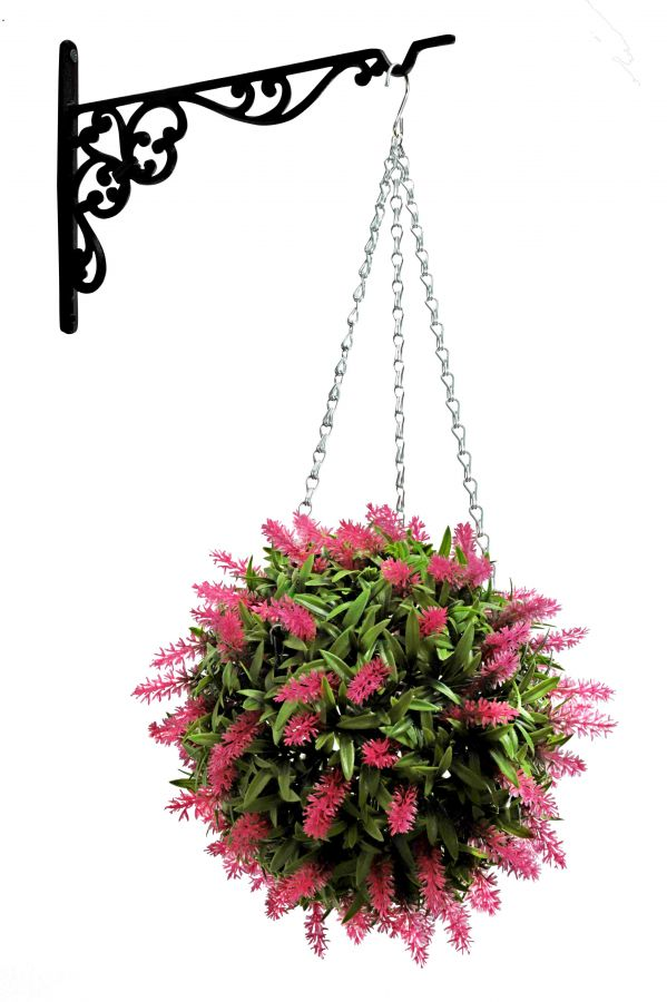 38cm Artificial Topiary Flower Ball Pink