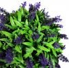 28cm Artificial Topiary Flower Ball Purple