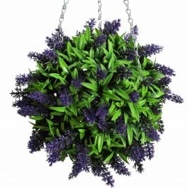 38cm Artificial Topiary Flower Ball Purple