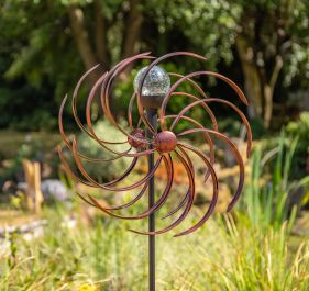 Holywell Wave Wind Spinner in Bronze Dia 43cm by Primrose™ Primrose™