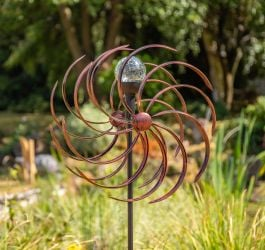 Holywell Wave Wind Spinner in Bronze Dia 43cm by Primrose™