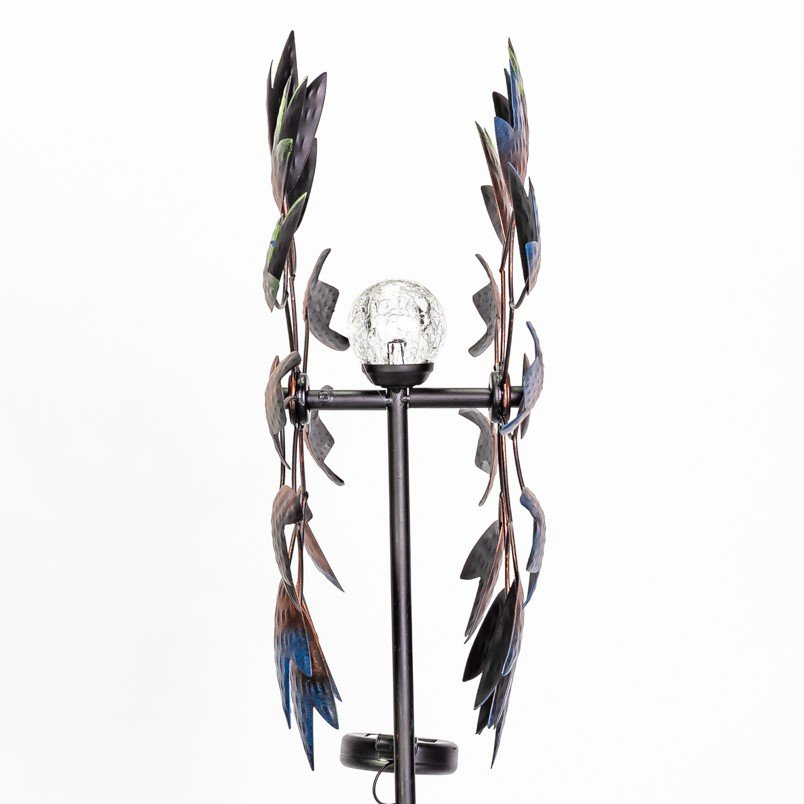 Selwood Wind Spinner with Solar Crackle Globe Dia 46.5cm by Primrose™