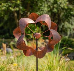 Nymph Bronze Flower Wind Spinner Dia 40cm by Primrose™