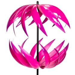 Campion Ribbon Wind Spinner in Fuschia Dia 58cm by Primrose™