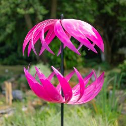 Campion Ribbon Wind Spinner in Fuschia Dia 58cm by Primrose®