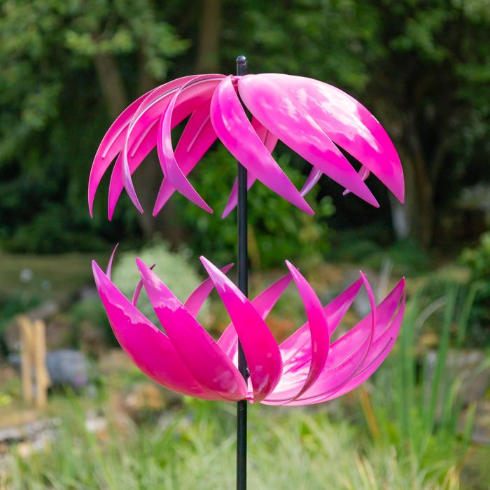 Campion Ribbon Wind Spinner in Fuschia Dia 58cm only at Primrose™