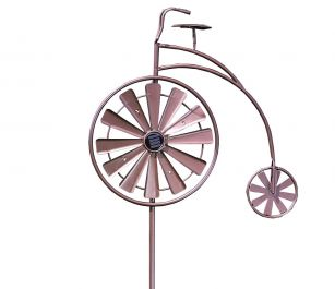 Smart Garden - Bronze Windspinner Penny Farthing with rotating wheel