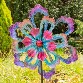 Amethyst Flower Wind Spinner Dia 82cm by Primrose™