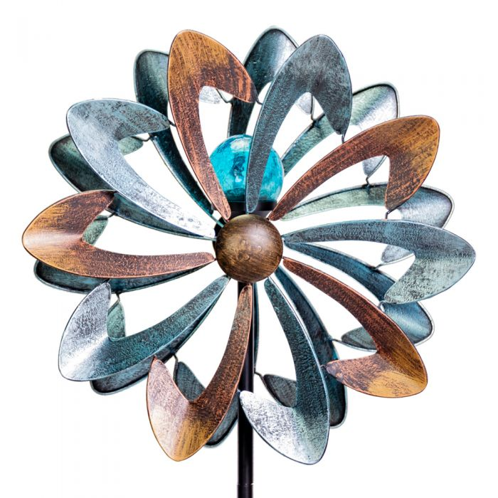 Bluebird Wind Spinner with Solar Crackle Globe Dia 45cm by Primrose™