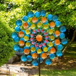Multicoloured Gem Wind Spinner Dia 61cm by Primrose™