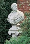 Limestone Brutus Bust Statue H97cm
