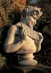 Limestone Bust of Pan Statue H77cm