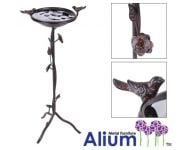 Alium� Harrogate Steel Bird Bath/Feeder in Brown H71cm x D33cm
