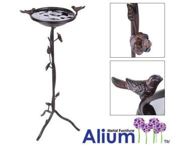 71cm Alium™ Harrogate Steel Bird Bath/Feeder in Brown