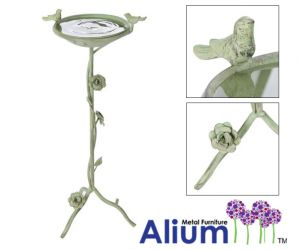 Alium™ Ornamental Harrogate Bird Bath/Feeder in Jade H71cm x D33cm