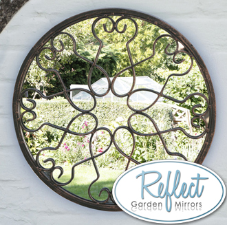 1ft 5in Blossoming Metal Round Mirror - by Reflect™