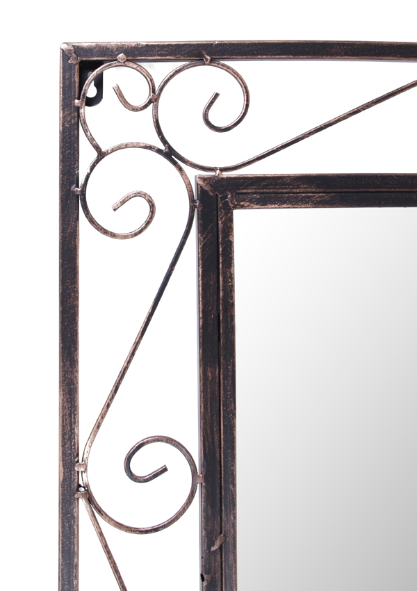 6ft 7in x 2ft 1in Rectangular Elegance Tall Metal Garden Mirror - by Reflect™