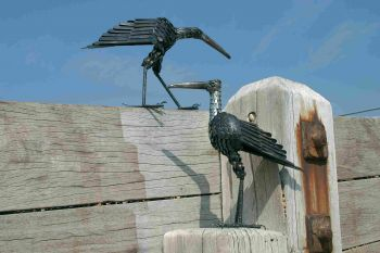 Curlew Pecking Sculpture