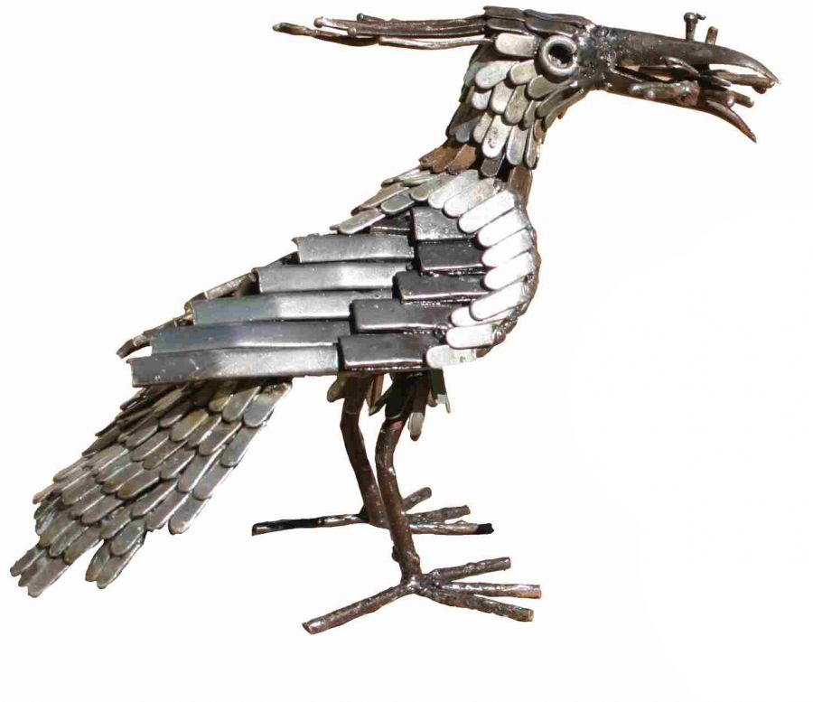 Lapwing Feeding Sculpture