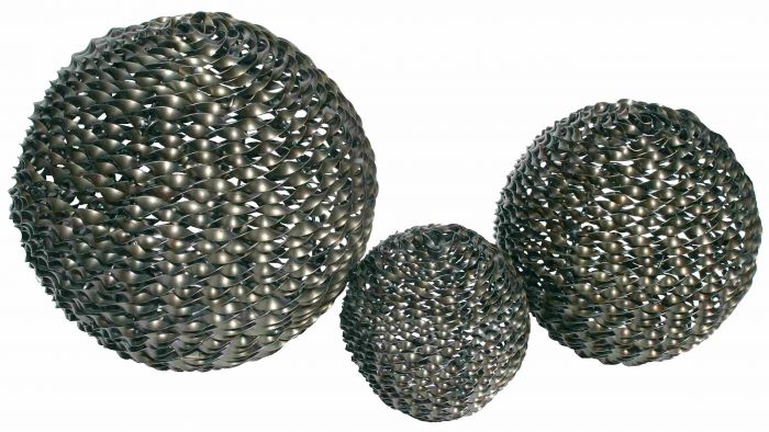 Garden Sphere Sculpture - Set of 3