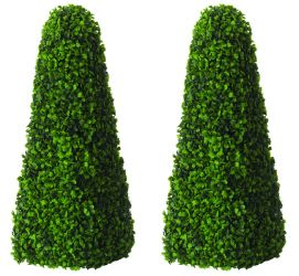 90cm Artificial Topiary Trees by Primrose™ - 'The Big Buxus Obelisk'