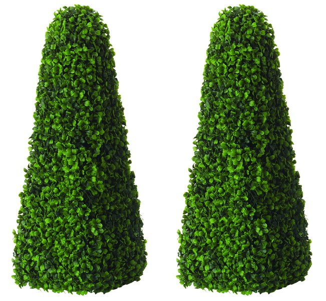 60cm Artificial Topiary Trees by Primrose™ - 'The Buxus Obelisk'