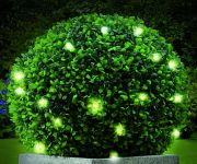 Pair of 30cm Artificial Topiary Ball with Lights by Gardman
