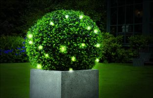 Artificial Topiary Ball with Lights - 40cm
