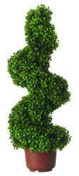 Artificial Potted Boxwood Topiary Swirl - 1.4m