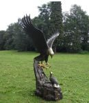Bronze Eagle On Nest Statue H1.7m