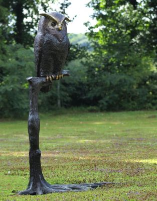 Owl On Branch Statue
