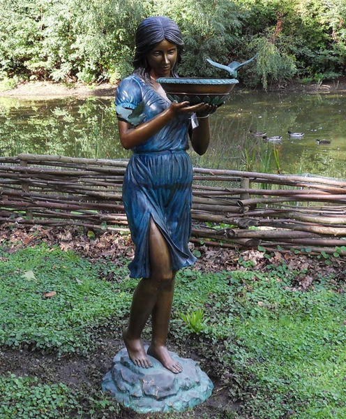 Woman With Vase Fountain Statue