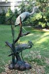 2 Herons Fountain Statue