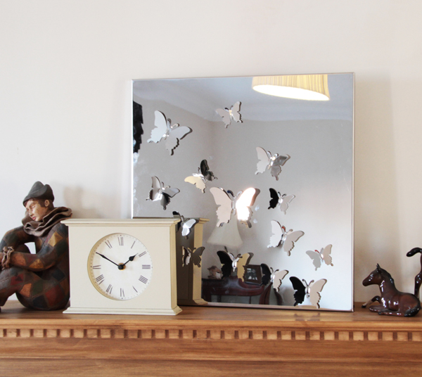 Stainless Steel Butterfly Mirror - 40cm