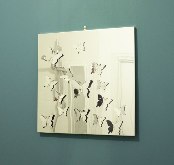 Stainless Steel Butterfly Mirror - 55cm