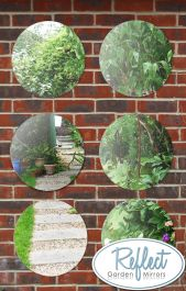 1ft 3in Set of 6 Circular Acrylic Garden Mirrors - by Reflect™