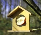 Wooden Bird Feeder in Yellow