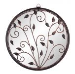 40.6cm 'Circle of Harmony' Metal Framed Acylic Garden Mirror - by Reflect�