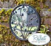 40.6cm 'Circle of Harmony' Metal Framed Acylic Garden Mirror - by Reflect™