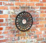 'Sunflower' Metal Wall Art 70cm