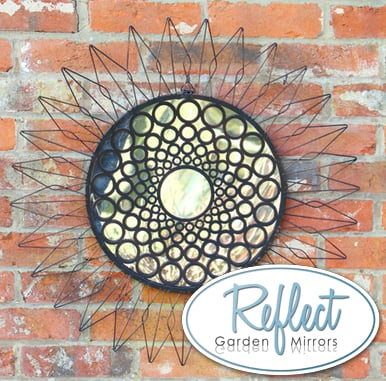 70cm 'Sunflower' Metal Framed Acrylic Garden Mirror - by Reflect™