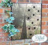 60cm 'Daisy' Square Metal Framed Acrylic Garden Mirror - by Reflect�